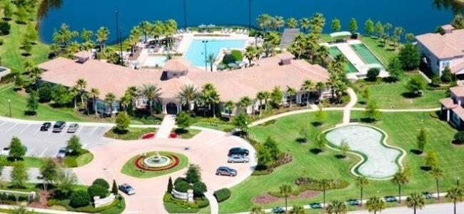 Orlando-Florida-Del-Webb-BellaTrae-at-ChampionsGate-Community-Aerial-View