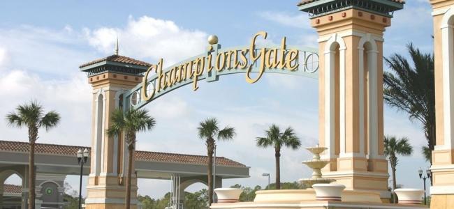 Orlando-Florida-Del-Webb-BellaTrae-at-ChampionsGate-Community-Entrance